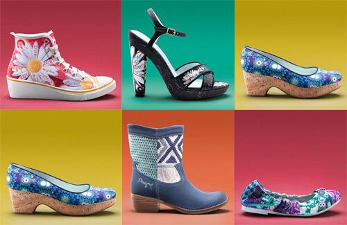 trends desigual  Un brand fashion din Spania care te îndeamnă să trăiești viața la maxim trends in footwear woman 2014 desigual